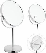 Kosmetikspiegel, zweiseitig mit 10-fach