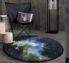 Kosmische Weltraum Sterne / Sternenhimmel Weiche verdicken Korallen Samt Runde Teppich und Teppich für Kinder Wohnzimmer rutschfeste absorbierende Matten , 4 , 100cm