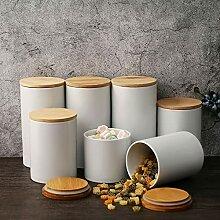 Kosoree 3er Vorratsdosen Keramik Set mit Deckel