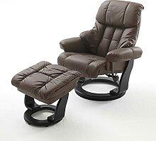 Kosoree Relaxsessel braun Leder Fernsehsessel +