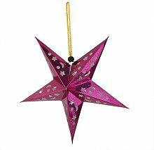 Kosplo 3D-Papier-Laterne, hohl, Stern, Pentagramm,