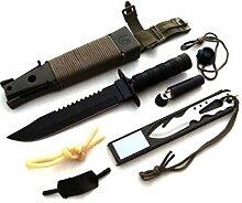 KOSxBO® XXL Outdoor Survival Set mit Holster,