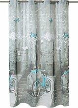 Kotibe Fahrrad Duschvorhang aus flauschigem,