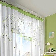 KOU-DECO Fenstervorhang hochwertige transparente