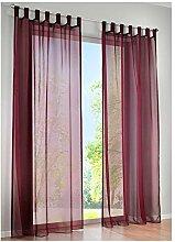 KOU-DECO Schlaufen Gardinen Polyester Transparent