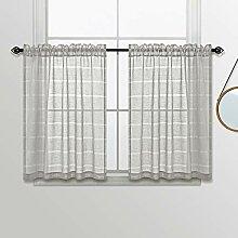 KOUFALL Gardinen für Küchenfenster, 91,4 cm