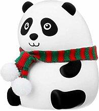 Kousa Panda-Nachtlicht, USB wiederaufladbar,