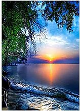 KovBexJa Landschaft Diamant Mosaik Sonnenuntergang