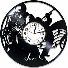 Kovides Jazz Vinyl-Uhr, 30,5 cm, Musik-Genre,