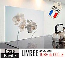 kozéodéco–Kredenz aus Hartglas Décor 'Orchideen' 600x 400mm