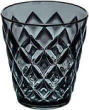 KOZIOL Becher Crystal S Transparent Anthrazit,