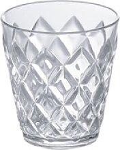 KOZIOL Becher Crystal S Transparent, Kunststoff