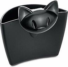 Koziol Tassenutensilo MIMMI/Katze, schwarz, 1 Stck