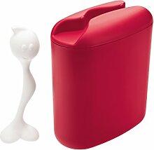 koziol Vorratsdose 500 g Hot Stuff,  Kunststoff, himbeer rot mit weiß, 8.5 x 17 x 20 cm