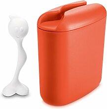 Koziol Vorratsdose 500 g Hot Stuff, Kunststoff, orangerot, 8.5 x 17 x 20 cm