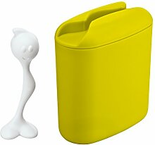 koziol Vorratsdose  Hot Stuff,  Kunststoff, senfgrün mit weiß, 8.5 x 17 x 20 cm
