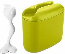 koziol Vorratsdose Hot Stuff M, Kunststoff, senfgrün mit weiß, 17.1 x 8.5 x 16.5 cm