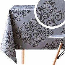 KP HOME Wachstuch-Tischdecke aus PVC, abwischbar,