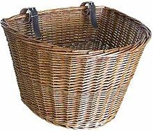 KPOON Fahrradkorb Handgemachte Wicker Fahrrad