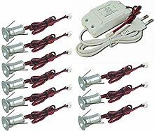 Kpsun Mini-LED-Einbaustrahler/Einbauleuchte, 1 W,