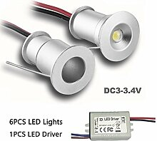 KPSUN Mini-LED-Strahler, 6 Stück, 3 V, 1 W,