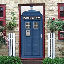 KPVK 3D Tür Mauer Aufkleber Wandbilder Blaue