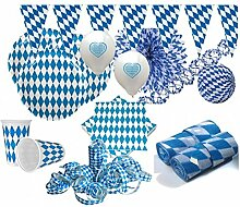 KPW XXL 111 Teile Bavaria Party Deko Set