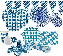 KPW XXL 48 Teile Bavaria Party Deko Set