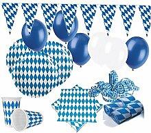 KPW XXL 69 Teile Bavaria Party Deko Set