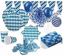 KPW XXL 71 Teile Bavaria Party Deko Set
