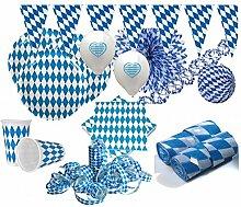 KPW XXL 91 Teile Bavaria Party Deko Set