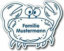 Krabbe, Briefkastenschild, Klingelschild, maritim,