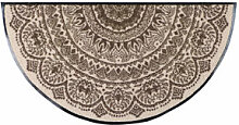 Kräuselvelours-Fußmatte Medaillon bindet