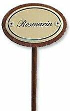 Kräuterstecker Rosmarin mit Erdspieß aus Emaille