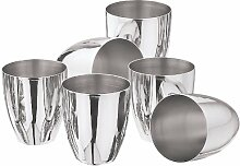 Kraft Premium Glas-Set, 6Stück silber