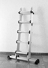 Kraft Werkzeuge Multifunktionsleiter Vielzweckleiter Gerüst Gelenk Leiter 2,2 m