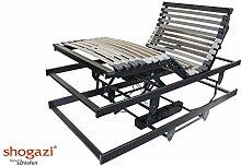 Krankenbett / Pflegebett - elektrischer höhenverstellbarer Lattenrost 3 Motoren - Made in Germany, Größe:90x200