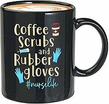 Krankenschwester-Kaffeetasse, 325 ml, schwarzer