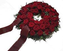 Kranz aus roten Rosen von Flora Trans