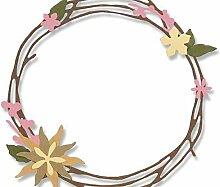 Kranz Mit Blumen - Schneiden von Metall-Vorlage