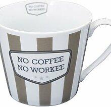 Krasilnikoff Becher mit Henkel Happy Cup No Coffee