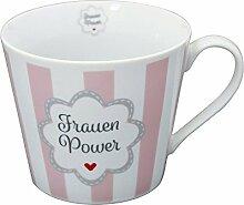 Krasilnikoff Becher mit Henkel Happy Cup Power