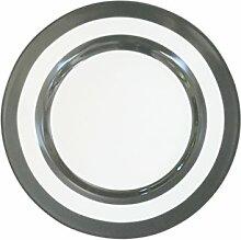 Krasilnikoff - Dessert Plate - Stripes -