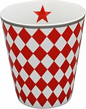 Krasilnikoff Happy Mug Becher Harlekin ro