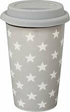 Krasilnikoff - Happy to go Becher - Coffee to go - light grey star