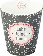 Krasilnikoff HM357 Mug/Becher/Tasse - Lebe Deinen