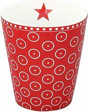 Krasilnikoff HM390 Mug/Becher/Tasse - rot - weiße