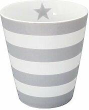Krasilnikoff Kaffee Becher/Tasse/Mug - stripes grey