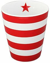 Krasilnikoff Kaffee Becher/Tasse/Mug - stripes ro