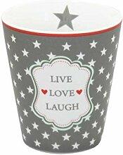 Krasilnikoff - Mug/Becher/Tasse - live Love Laugh